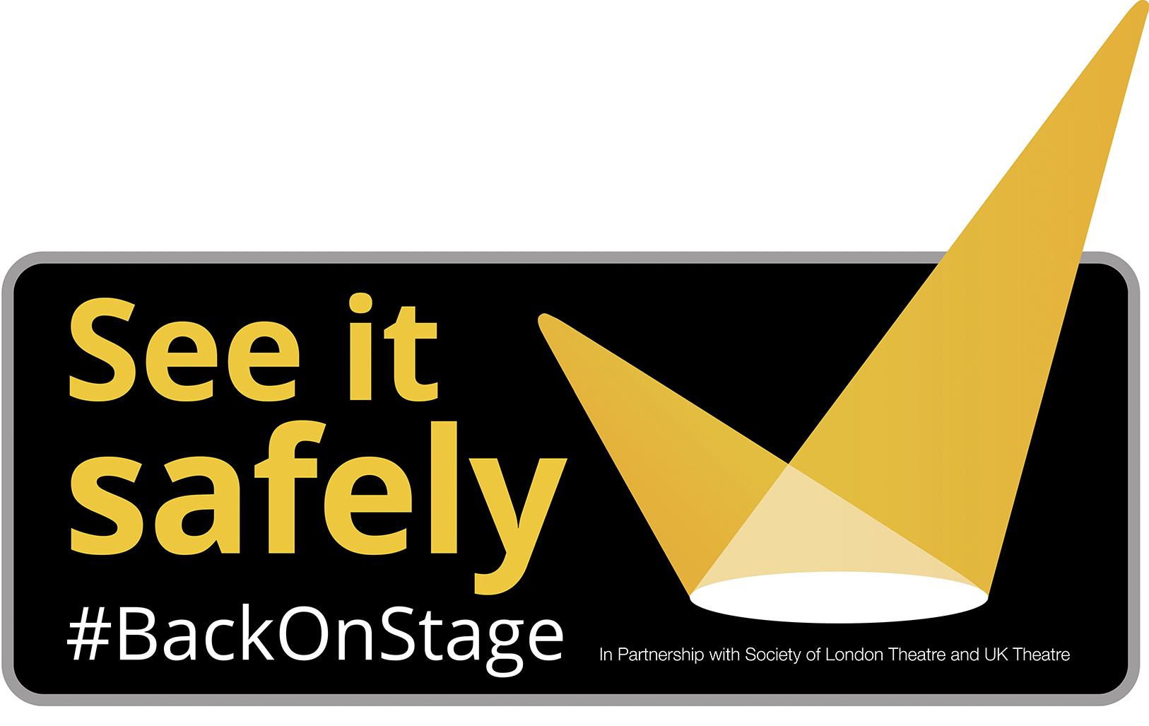See it Safely Back on Stage logo